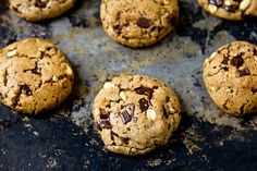 Peanut Butter Chocolate Chunk Cookies by @Shawnda