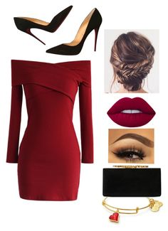 """Happy Valentine's Day"" by slytherin427 ❤ liked on Polyvore featuring Jimmy Choo, Chicwish, Lime Crime and Christian Louboutin"