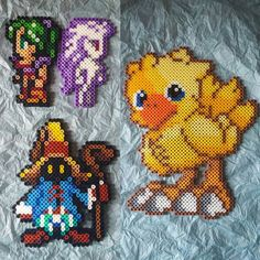 Final Fantasy perler beads by yougotmarin