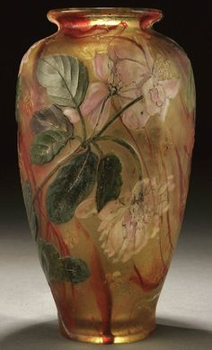 circa 1900.  A VERY FINE BURGUN & SCHVERER CAMEO GLASS VASE ci, Lot Number: 0686, Starting Bid: $8,000, Auctioneer: Jackson's Auction, Auction: American & European Fine Art and Antiques, Date: December 7th, 2006 PST