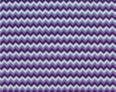 Zig Zag Chevron Purple Fabric BTY with FREE Shipping to USA  100% Cotton Quilting Apparel Crafts Home decor
