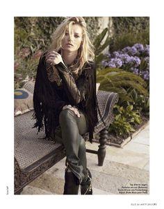 Sous Le Soleil De Saint-Tropez | Kate Moss | Sonia Sieff #photography | Elle France N°3478 24th August 2012