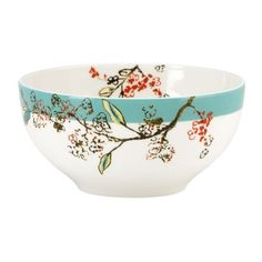 Lenox Teal Chirp 4-Piece Dessert Bowl Set (67 CAD) ❤ liked on Polyvore featuring home, kitchen & dining, dinnerware, teal, colored dinnerware, bird dinnerware, teal dinnerware, lenox dinnerware and lenox