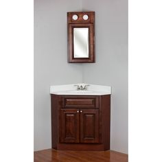 Contemporary Art Websites Brandy Wine Maple Corner Vanity Corner Vanity with Top and Medicine Cabinet White Size Single Vanities Corner VanityTiny BathroomsBathroom