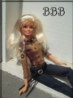 Barbie Outfit Boat Neck Top & Jeans by BarbieBoutiqueBasics