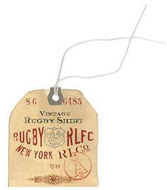 nice vintage look - clothes tag
