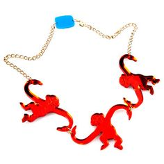 Barrel O' Monkeys Necklace Red, $42, now featured on Fab.