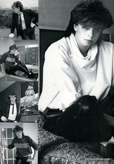 These five fantastic black and white photos of John Taylor appeared in a Japanese music magazine in 1983 or Nigel John Taylor, Roger Taylor, Nick Rhodes, Simon Le Bon, Kinds Of Music, Music Is Life, Great Bands, Cool Bands, Birmingham