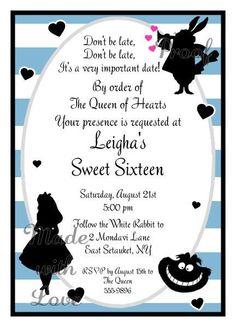 Invitations-Alice in Wonderland