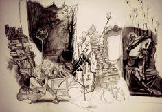 In Progress Layered Drawing by Arinda-Foxglove