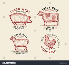 Find Meat Set Labels Butcher Shop Symbol stock images in HD and millions of other royalty-free stock photos, illustrations and vectors in the Shutterstock collection. Logo Branding, Branding Design, Logo Design, Logos, Creative Instagram Stories, Instagram Story, Meat Box, Farm Logo, Butcher Shop
