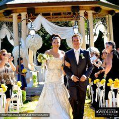 Rosanne & Robert | WedLuxe Wedding Colours, Flower Decorations, Mermaid Wedding, Our Wedding, Centre, River, Yellow, Wedding Dresses, Fashion