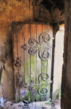 like the ironwork on the door