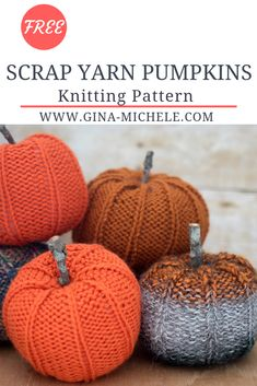 FREE knitting instructions for these junk pumpkins. knitting pattern FREE knitting instructions for these junk pumpkins. , FREE knitting pattern for these Scrap Yarn Pumpkins. Yarn Projects, Knitting Projects, Knitting Tutorials, Tejido Halloween, Fete Halloween, Knit Or Crochet, Crochet Hats, Crochet Granny, Knitting Yarn