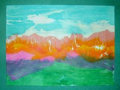 Tissuepaper Landscape Painting - http://www.lbrummer68739.net/5th-grade/tissue-painted-landscape/
