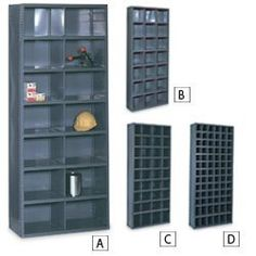 EDSAL Steel Bin Shelving - Gray by Edsal. $320.00. Many bin configurations availble to meet your needs.