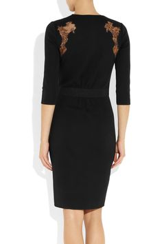 Giambattista Valli | Lace-trimmed wool dress | NET-A-PORTER.COM