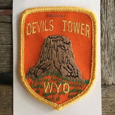 Devils Tower Wyoming Vintage Souvenir Travel Patch from Rushmore Photo and Gifts by HeydayRoadTrip on Etsy