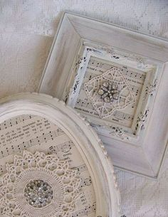 25 Vintage Picture Frame Designs With Shabby Chic Styles