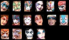 Great Face Painting Design for beginners and pros. Animals and tribal, kids and adults will love to try face painting design