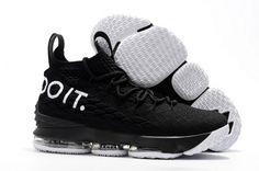 26c6f52c8a72 Original Nike LeBron 15 Just Do It Black White - Mysecretshoes Nike Kd  Shoes