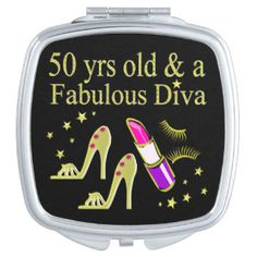 GORGEOUS GOLD 50TH BIRTHDAY DIVA DESIGN VANITY MIRROR Enjoy our fabulous selection of 50th birthday gifts. Up to 50% Off Mother's Day Gifts & More 15% Off Sitewide Use Code: MOMGIFTS2017 http://www.zazzle.com/jlpbirthday/gifts?cg=196128245923858498&rf=238246180177746410  #50yearsold #50thbirthday #50thbirthdaygift #50thbirthdayideas #Happy50th