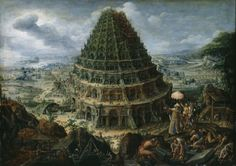 Maerten van Valckenborch the Elder, The Tower of Babel, 1595, oil on oak, Old Masters Picture Gallery, Copyright: .. SKD