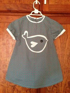 DIY little girls dress with bird applique. Follow link to pattern I used http://www.craftinessisnotoptional.com/2012/03/madison-dress.html?m=1