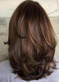 Medium Layered Haircuts Medium Length Hairstyles with Layers Layered Haircuts For Medium Hair, Medium Length Hair Cuts With Layers, Haircut For Thick Hair, Medium Hair Cuts, Short Hair Cuts, Medium Hair Styles, Curly Hair Styles, Medium Curly, Haircut Short