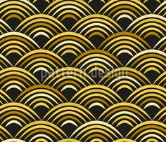 Golden Wave by Annemarie Rüegger available for download as a vector file on patterndesigns.com Vektor Muster, Surface Pattern Design, Vector Pattern, Vector File, Waves, Patterns, Vectors, Block Prints, Ocean Waves