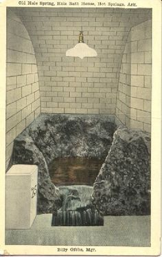 1918  Postcard; Old Hale Spring, Hale Bath House, Hot Springs, Arkansas