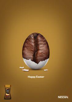 on Behance design poster behance Nescafé Gold Easter Ad. Ads Creative, Creative Posters, Creative Advertising, Advertising Design, Creative Coffee, Food Poster Design, Graphic Design Posters, Ad Design, Logo Design