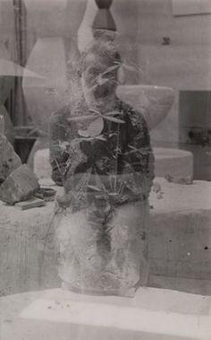 "Constantin Brancusi (French, born Romania. 1876–1957), Untitled (Double Exposure Self Portrait), 1933-34. Gelatin silver print, 9 3/8 x 5 7/8"" (23.8 x l5.0 cm). Gift of Mrs. Eyre de Lanux, 1120.1979"