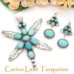 Carico Lake Turquoise Jewelry | Earrings | Pendants | Rings