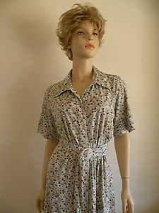 Retro 70s Polyester Belted Shirt Dress House Frock Sz XL $24.95  Vintage Clothing