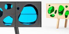 Irmãos Campana criaram o aparador Aquário; Móvel reúne madeira e vidro colorido em duas cores: verde e azul