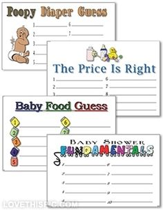 Free Printable Template for Guess the Baby Food Game Ballot - a fun ...