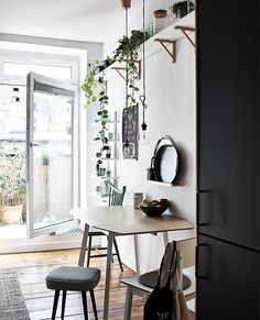 Smart Dining Room Layout Suggestions We are Stealing from IKEA – Home Unique Ikea Dining Table, Dining Area, Ikea Ps Table, Ikea Drop Leaf Table, Small Dining, Ikea Ps 2012, Desk In Living Room, Glass Cabinet Doors, Dining Room Design