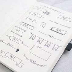Visit our blog today (link in bio) for a collection of bullet journal headers and banners!! #bulletjournal