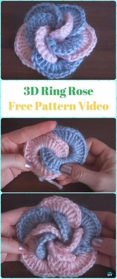 How to Crochet 3D Flowers with Multi Petals   3d, Crochet and Flowers