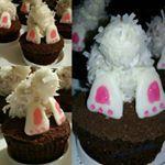 """#rebekahskitchen #bunnybutt #cupcakes #easterbaking #cutenessfactor #baking #bakedbyRebekah #bakewithme #bakedgoods #bakedbyme #food52 #52grams"""