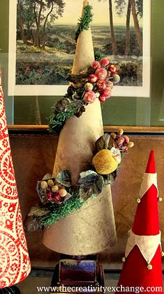 Fabric Covered Poster Board Tree Cones {Part 2}…