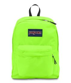 Neon Green Jansport Backpack | my style | Pinterest | Jansport ...