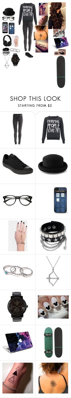 """""""Weird day."""" by ashtonlovesbvb ❤ liked on Polyvore featuring VILA, Converse, Warehouse, INDIE HAIR, With Love From CA and Studio Silver"""