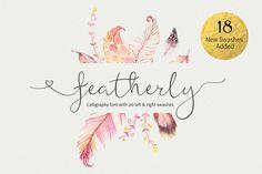 featherly wedding font