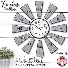 Farmhouse Rustic Chic Windmill Clock Bulletin Board Set Make your Farmhouse Classroom the envy of your hall, your floor, your school, with this adorable Farmhouse Windmill Clock Bulletin Board Set. Time flies when having fun, and that is exactly what your students will have learning to tell time...