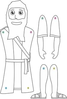 Abraham coloring pages. We colored Abraham and glued him