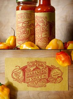 Bob's Tasty, Habanero Sauce, Label, Lettering, Hand Drawn, Packaging, Design