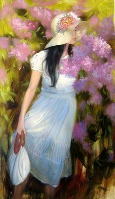 25 Beautiful Oil Paintings by Andrei Belichenko - Woman, Garden and Dreams Master Of Fine Arts, Russian Art, Henri Matisse, Woman Painting, Fine Art Gallery, Beautiful Paintings, Belle Photo, Figurative Art, Art World