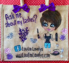 Bespoke Custom Hand-Painted Personalised Jute Bags & Gifts